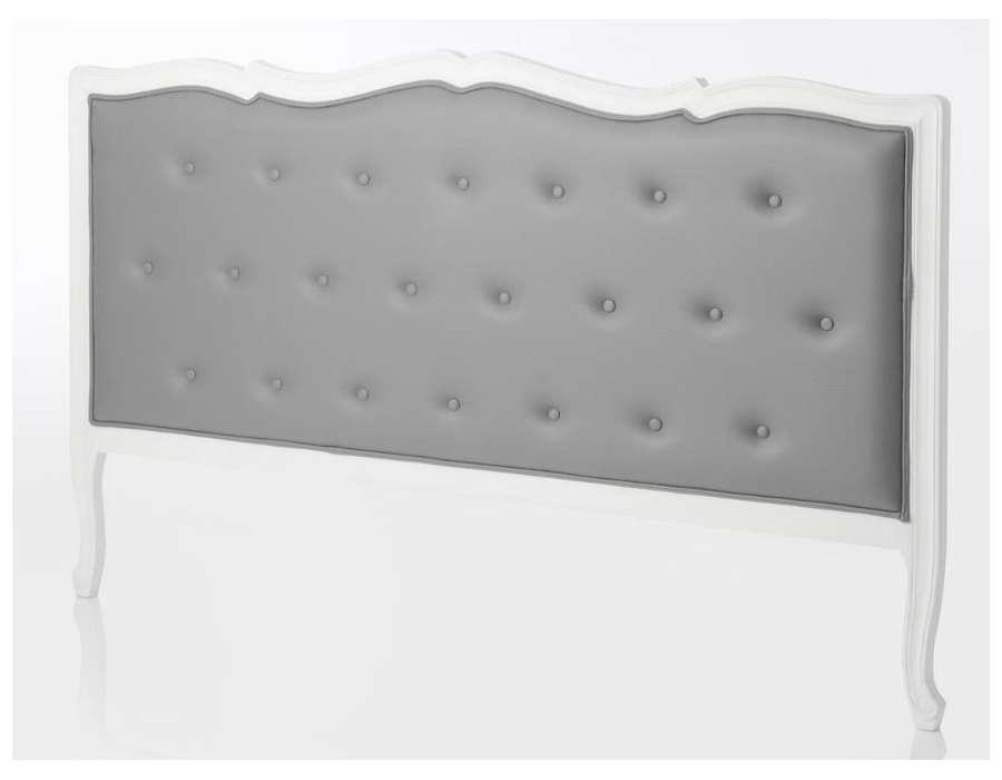 Tête de lit baroque grise 180 cm