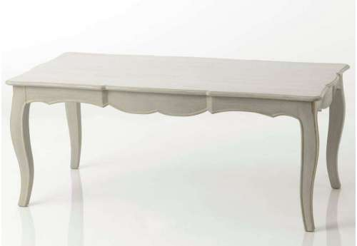 Table basse galbée lin Arbalète
