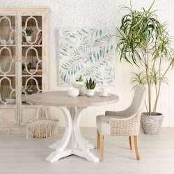 Table ronde 120 cm en bois campagne chic