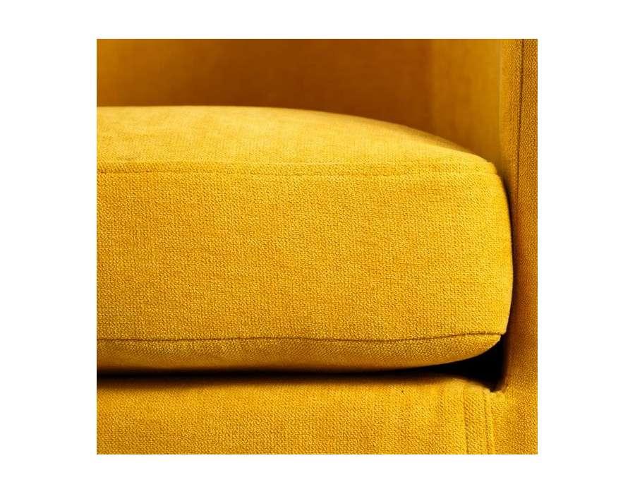 fauteuil de salon jaune moutarde arrondi pas cher. Black Bedroom Furniture Sets. Home Design Ideas