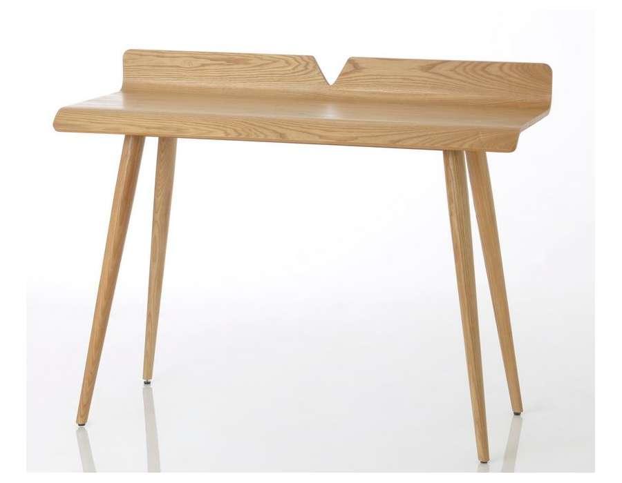 bureau 110 cm bois en fresne contemporain amadeus. Black Bedroom Furniture Sets. Home Design Ideas