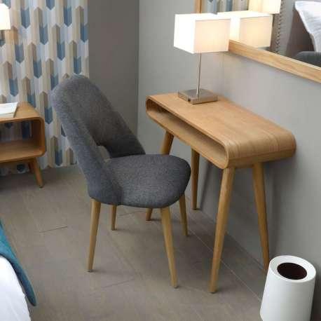 Bureau bois pieds métal mobilier de bureau contemporain sliver