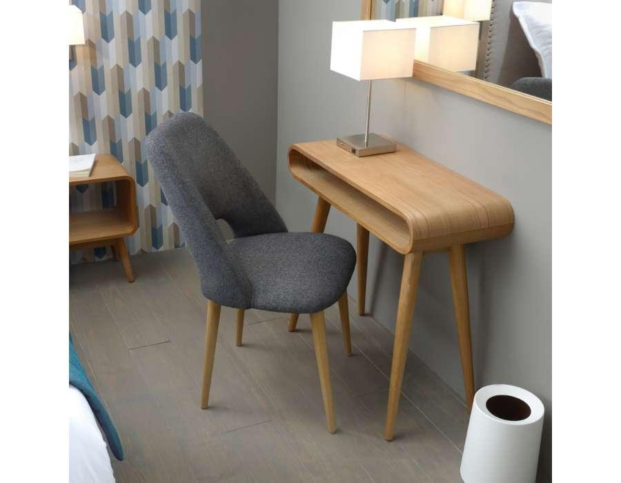 petit bureau arrondi bois en fresne contemporain amadeus. Black Bedroom Furniture Sets. Home Design Ideas