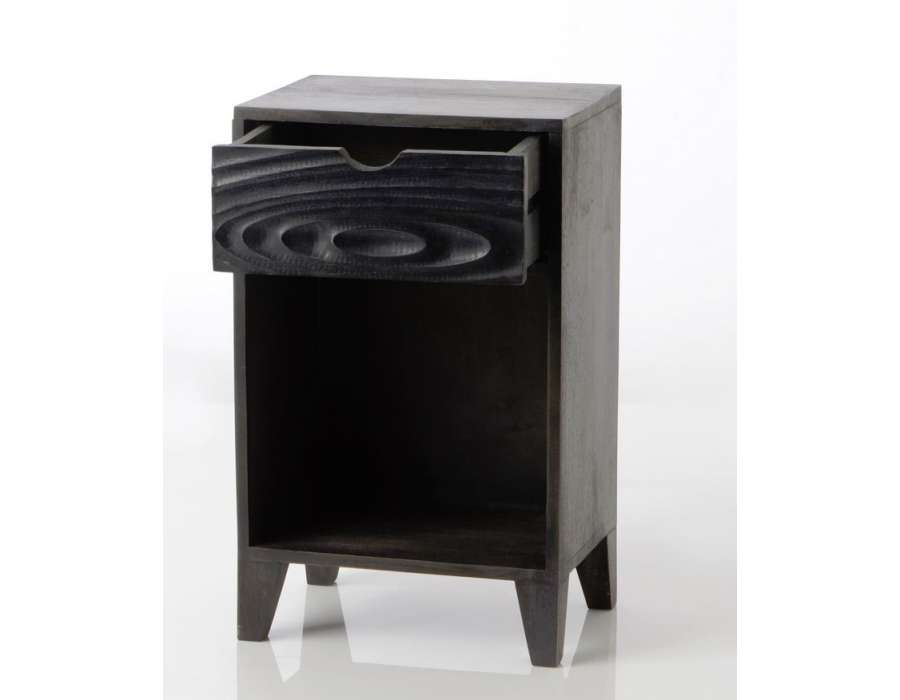 Table de nuit noir moderne ebène