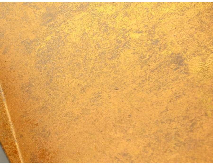 Bout de canap design noir et dor marque amadeus - Bout de canape dore ...