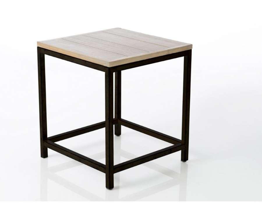 Bout de canapé contemporain bois et métal Antonin