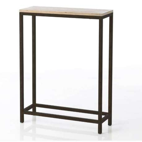 petite console de 60 cm en bois et m tal amadeus. Black Bedroom Furniture Sets. Home Design Ideas