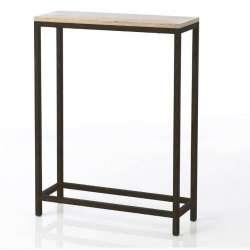 Petite console métal et bois contemporaine Antonin
