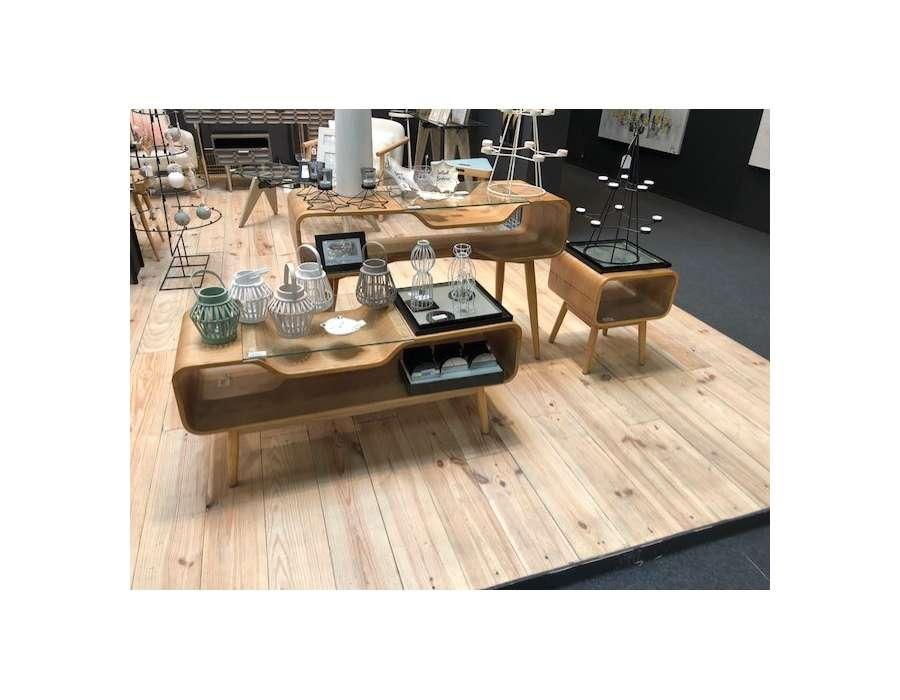 Meuble télé bois clair design