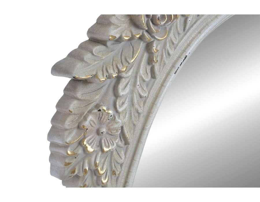 Miroir romantique beige grisé patiné Luce