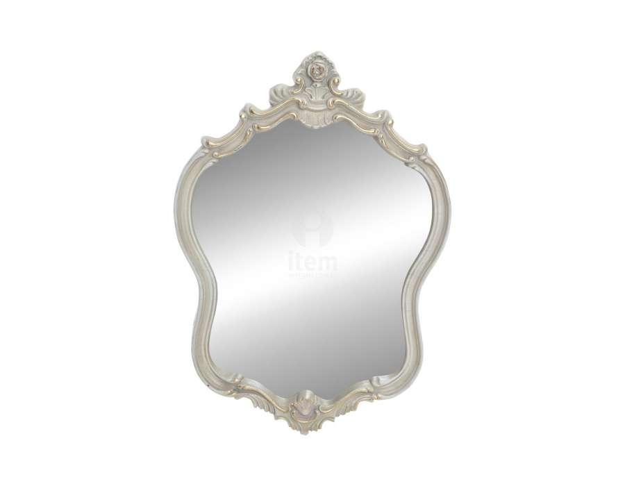 Miroir beige grisé patiné baroque Luce