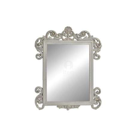 Miroir Rectangulaire Baroque Beige Grisé Patine Dorée Vieilli Pas Cher