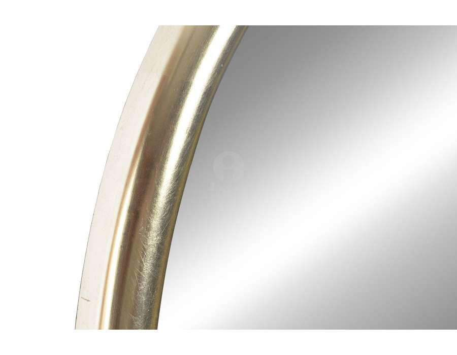 Miroir oval résine dorée