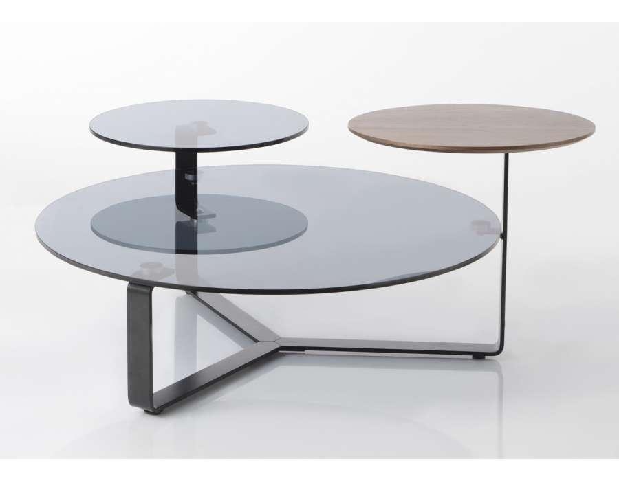 Table basse ronde 3 plateaux