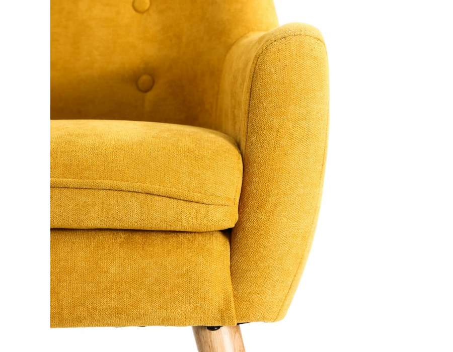 Fauteuil scandinave jaune Solna