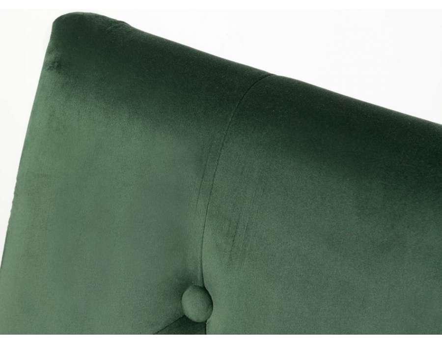 Tête de lit vert foncé capitonnée 180 cm