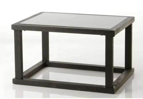 Table de salon noire contemporain black