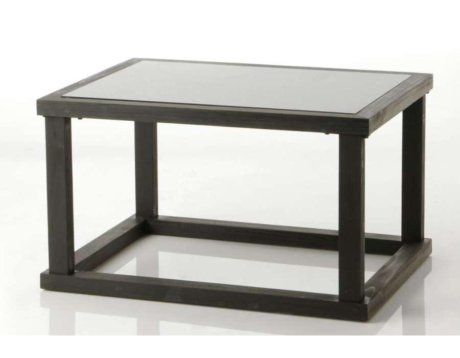 Table de salon noire contemporain black