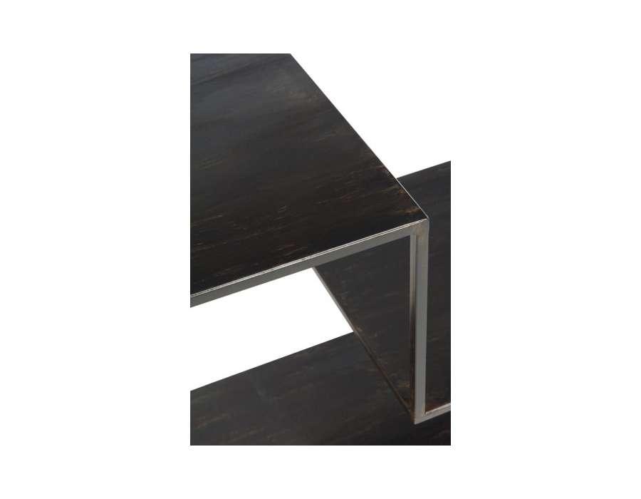 Etagère métal noir structurale