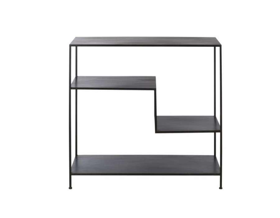 etag re m tal noir 4 niveaux marque jolipa pas chere. Black Bedroom Furniture Sets. Home Design Ideas