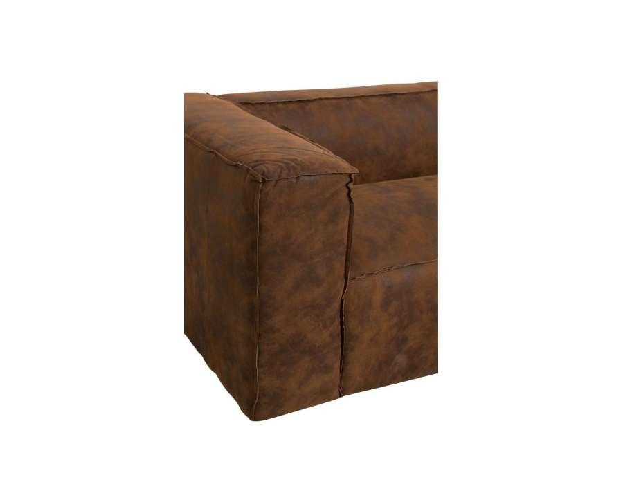 Canapé cuir délavé 3 places moderne