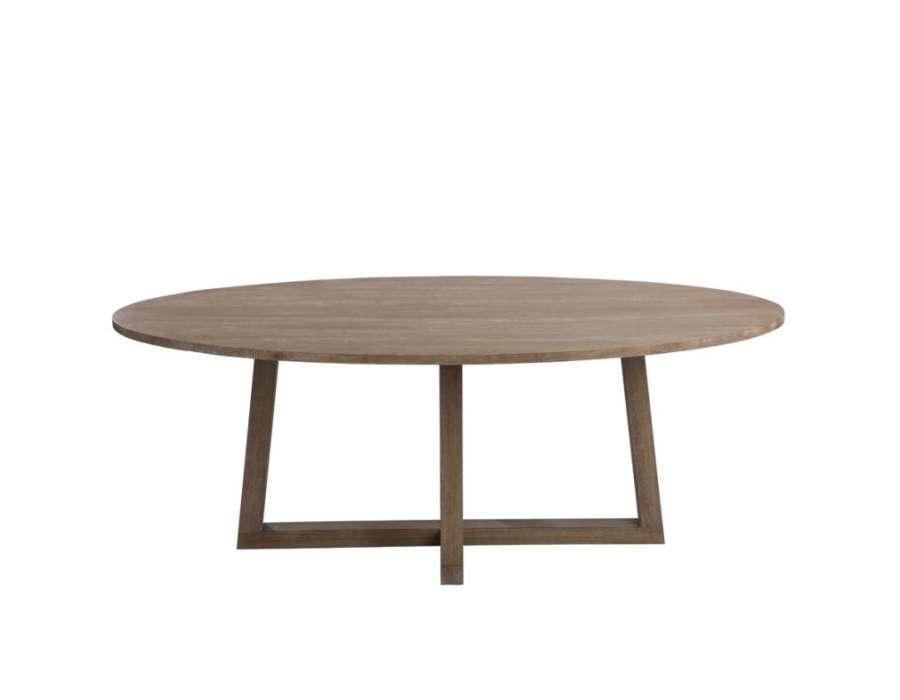 grande table de 220 cm ovale contemporaine jolipa. Black Bedroom Furniture Sets. Home Design Ideas