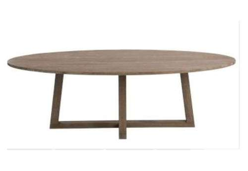 Table ovale contemporaine bois clair 280 cm