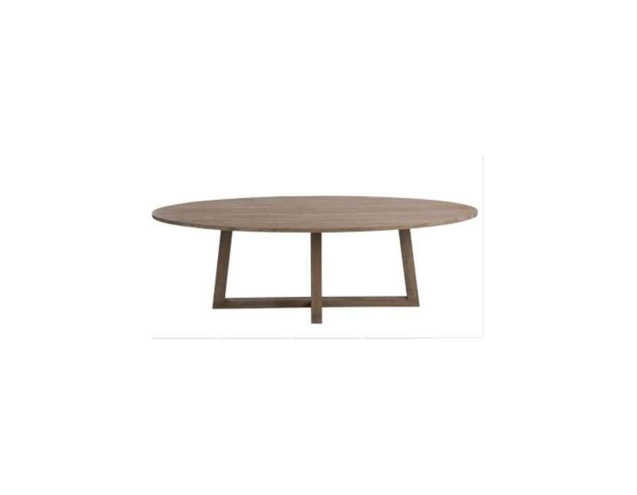 Table ovale contemporaine bois clair 280 cm