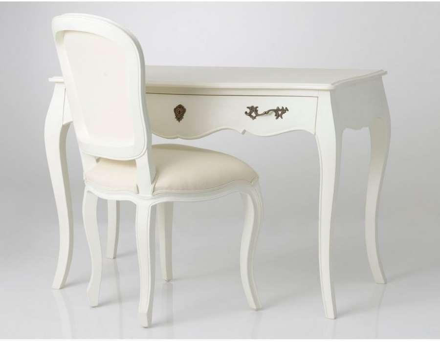 Bureau blanc pas cher avec un style baroque