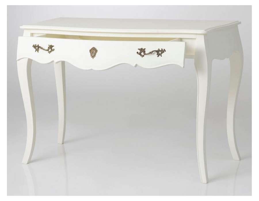 Bureau blanc baroque Amadeus