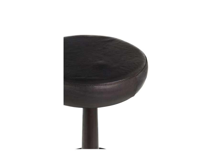 Tabouret de bar industriel reglable noir