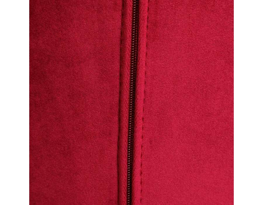 Fauteuil rouge fleurs velours