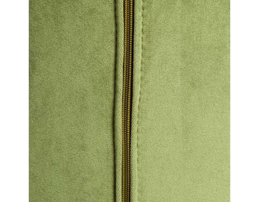 Fauteuil vert fleurs velours