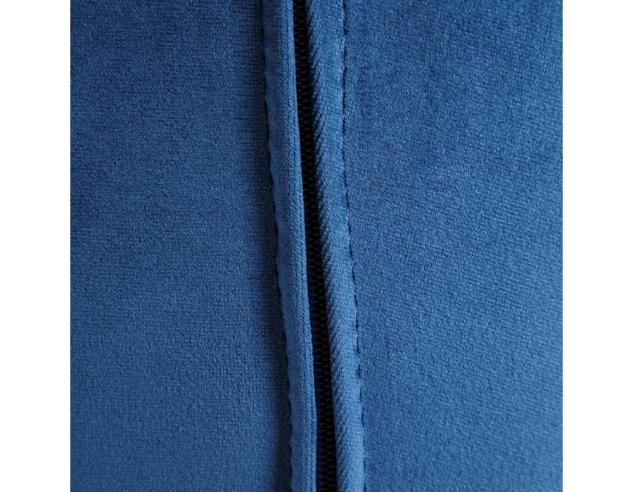 Fauteuil bleu capitonné velours Tiela