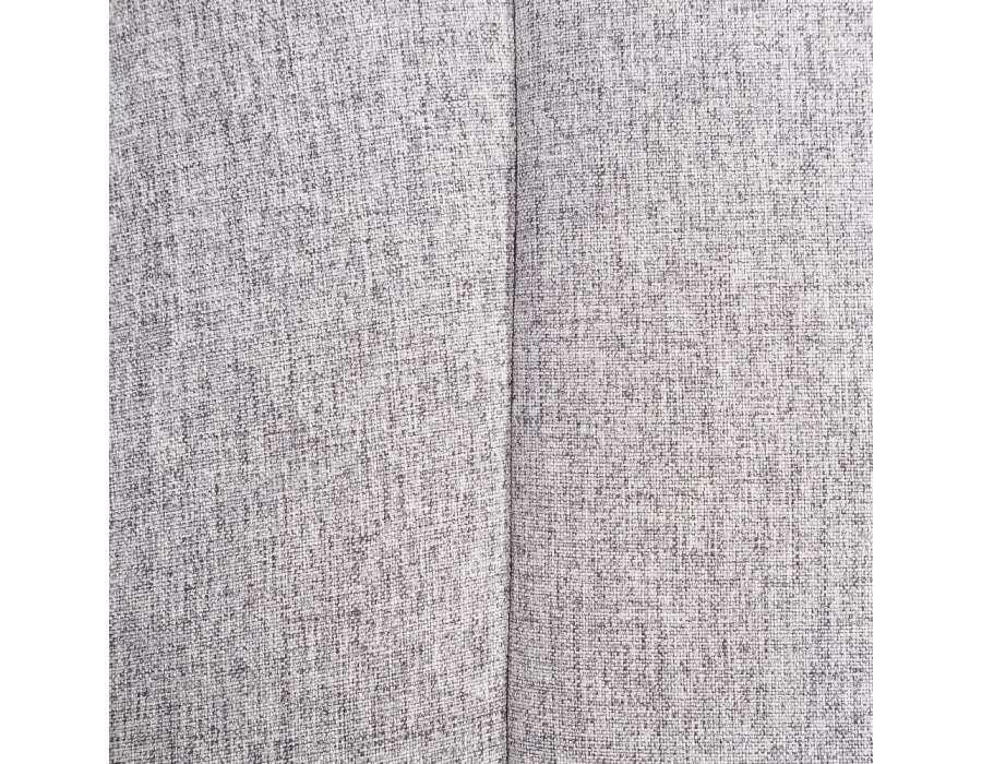 Fauteuil gris clair bombé rétro