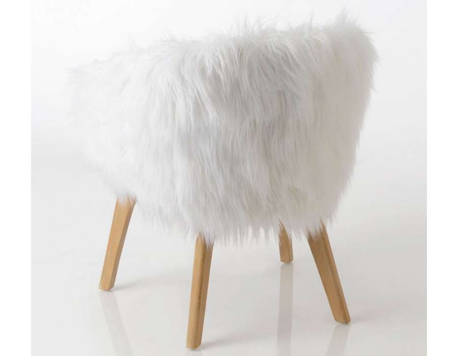 Fauteuil fourrure blanc Amadeus
