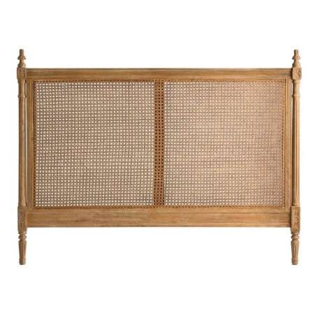 Tête de lit cannée 160 cm bois cérusé