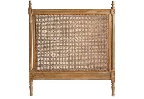 Tête de lit cannée 90 cm bois cérusé