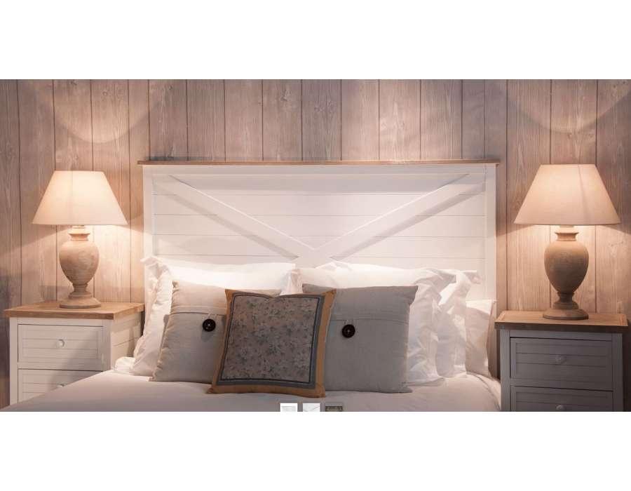 tete de lit blanche 160 cm vical home pas chere. Black Bedroom Furniture Sets. Home Design Ideas