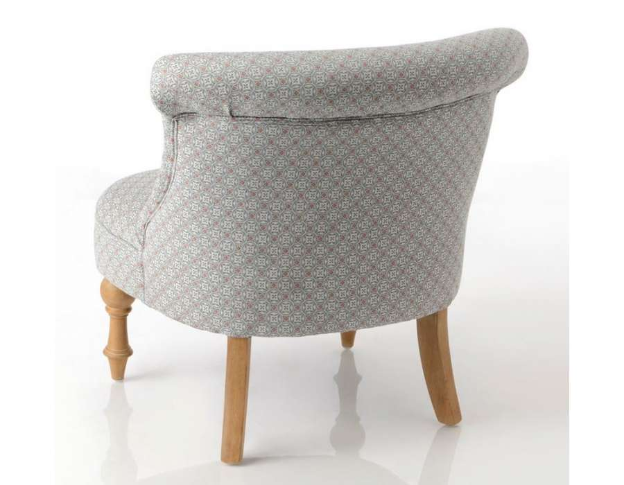 Fauteuil crapaud gris perle