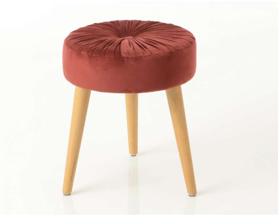 Tabouret bordeaux contemporain