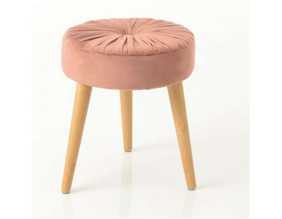 Tabouret rose contemporain