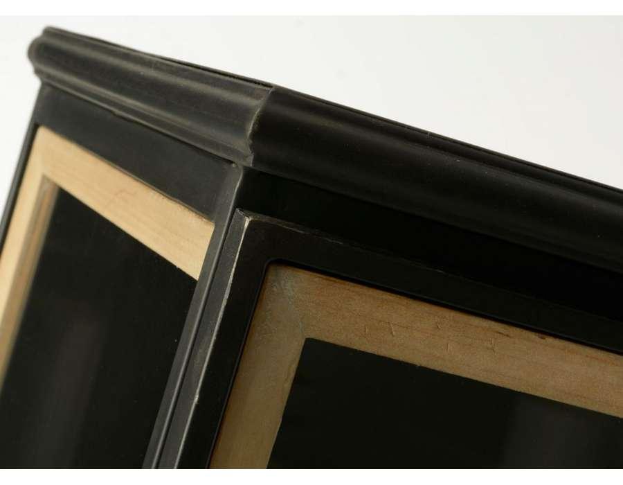 Armoire industrielle vitrée 2 portes métal et bois