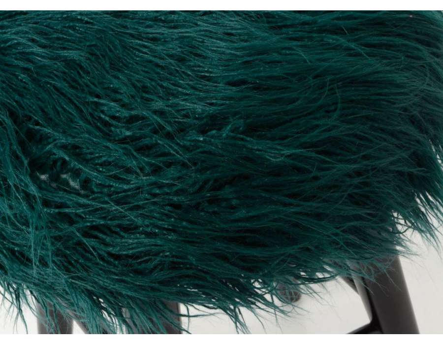 Tabouret fourrure bleu canard Amadeus