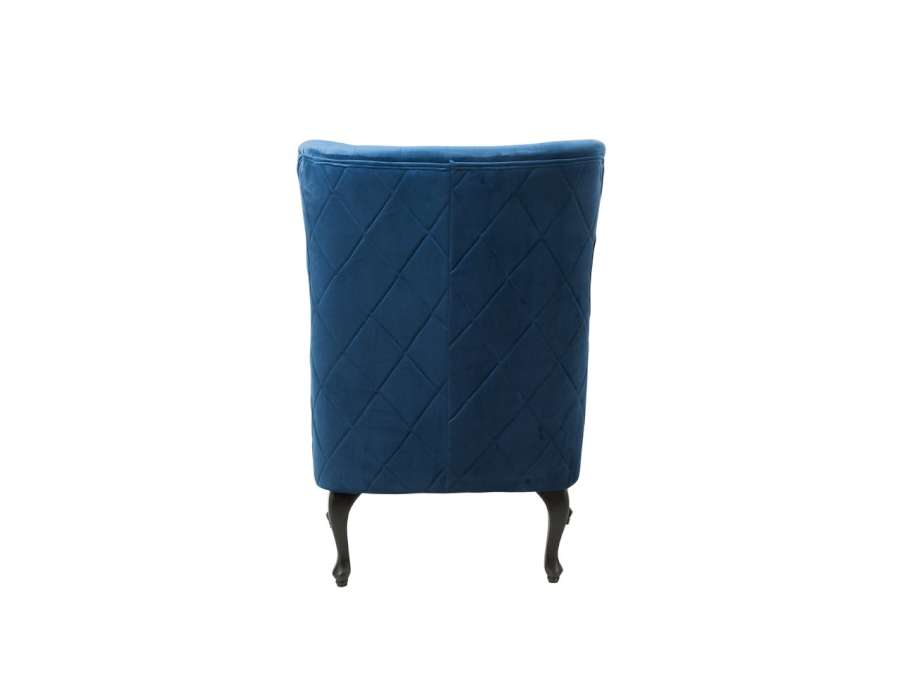 Fauteuil Dossier Capitonné Haut Bleu Jolipa gfvIymYb76