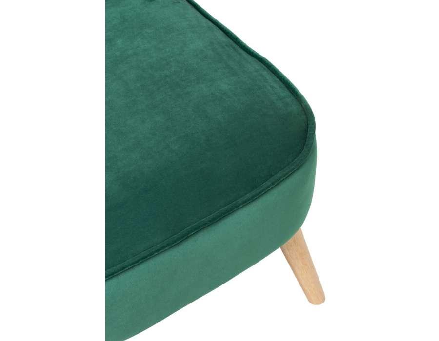 Chauffeuse vert sapin en velours retro