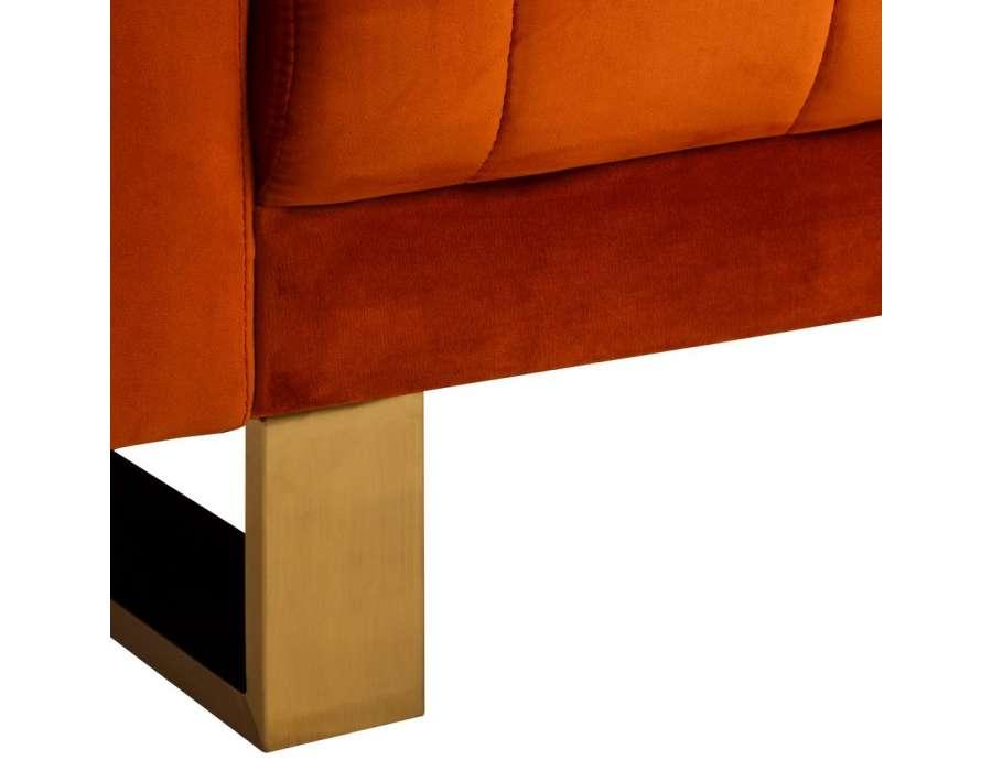 Petit canapé orange contemporain