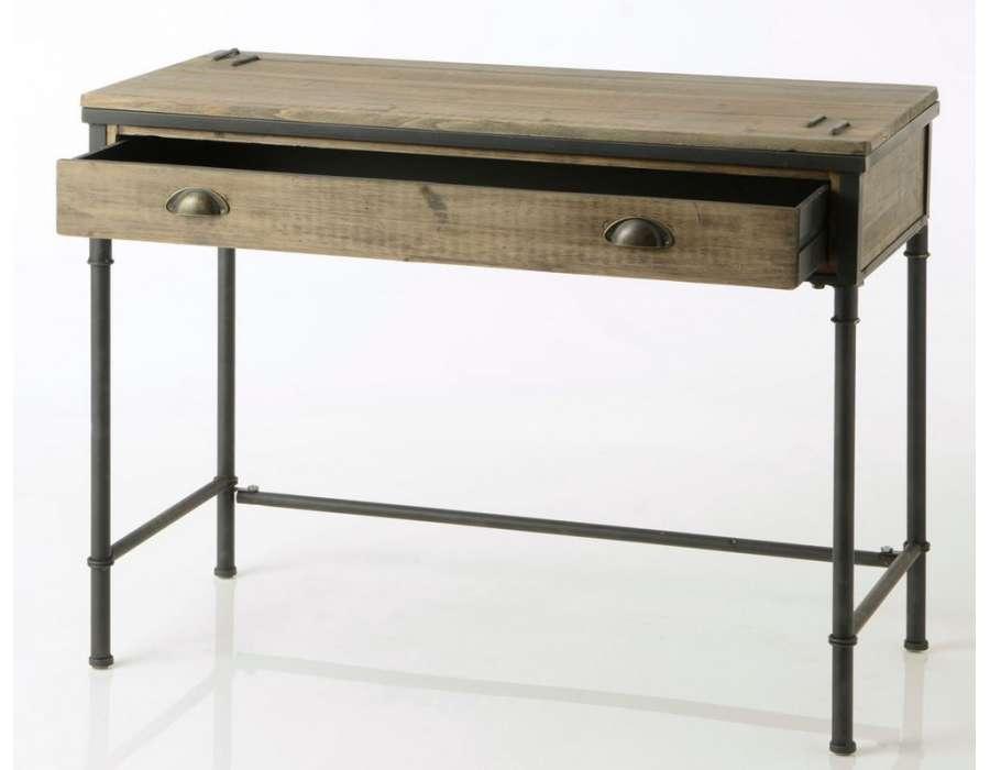 Bureau industriel avec un tiroir Agrafe