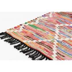 Tapis coton bohème coloré 90*60 cm