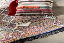 Tapis coton bohème coloré 80*120 cm